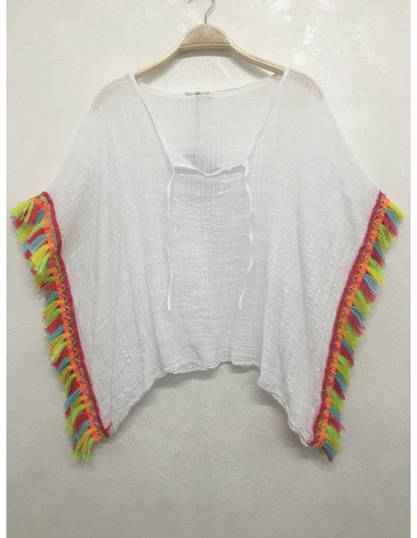 Pancho galon multicolore